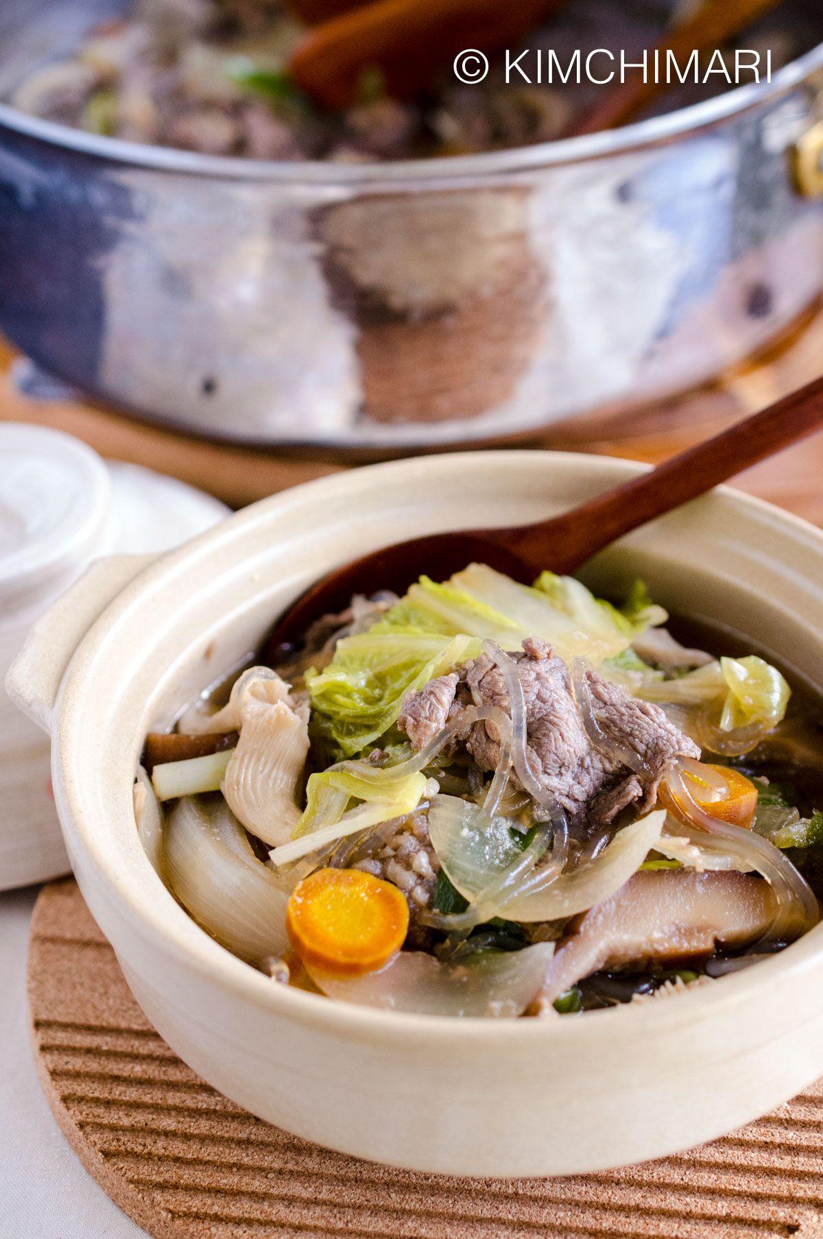Bulgogi Hot Pot (Jeongol) | Recipe | Bulgogi, Glass ...