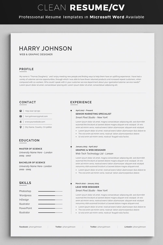 Resume Resume template word, Resume template
