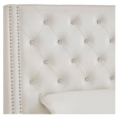 506b1fa0cb25 Rosalyn Crystal Tufted Wingback Headboard - Queen - Ivory - Inspire ...