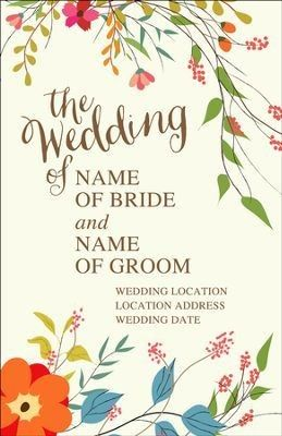 personalize your wedding program cover celebrate your wedding