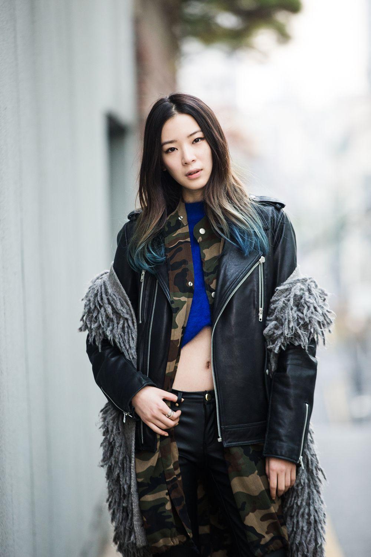 koreanmodel: Streetstyle: Irene Kim shot by Park Jimin for W Korea.