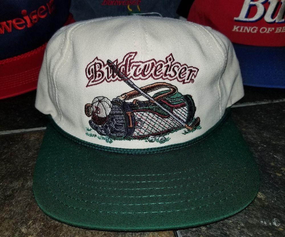 6fb824fd12f Budweiser Snapback Hats Lot of 11 Bud Ice Bud Light Beer USA Vtg 80s 90s  Golf
