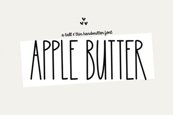 Apple Butter A Tall Handwritten Font in 2020 Country