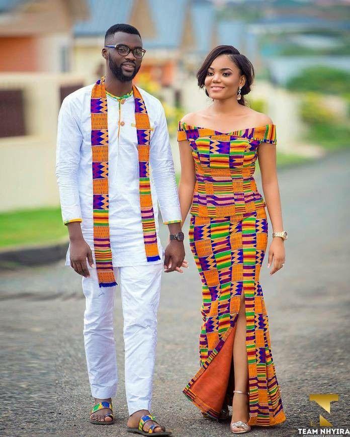 Modele de robe en pagne pour mariage