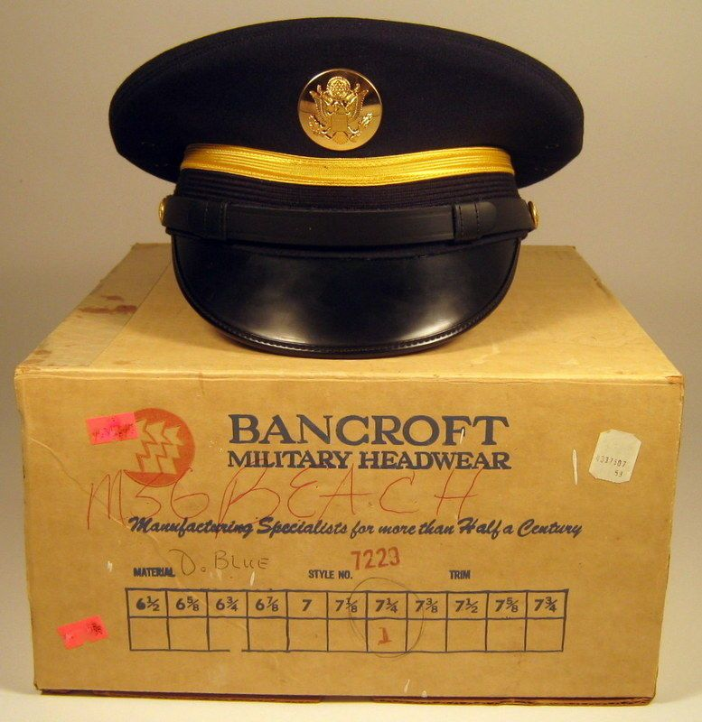 529457b854a US Army Male Enlisted Service Dress Blues Uniform Hat Cap with Box Vintage
