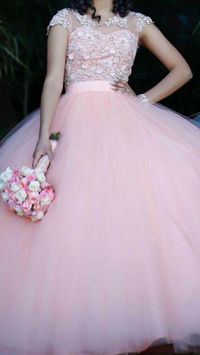 Vestido Rosa Xv Años En 2019 15 Años Vestidos De