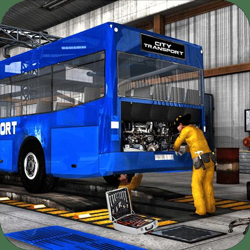 Auto Garage In 2020 Car Repair Service Garage Repair Bus