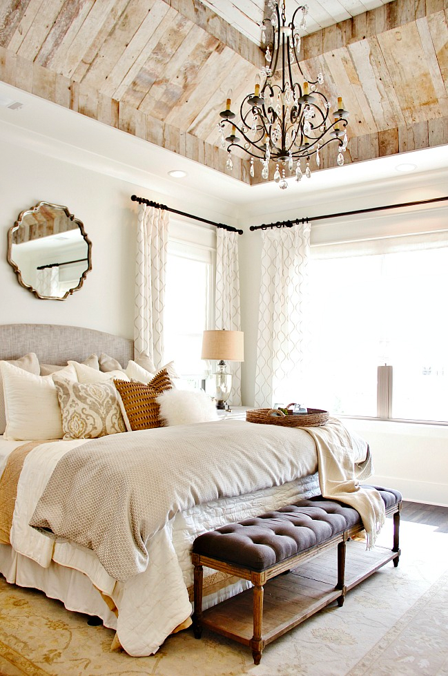 A Rustic Yet Glamorous Bedroom Design By Refresh Home And Featured On Thistlewood Farms Gets Recreated