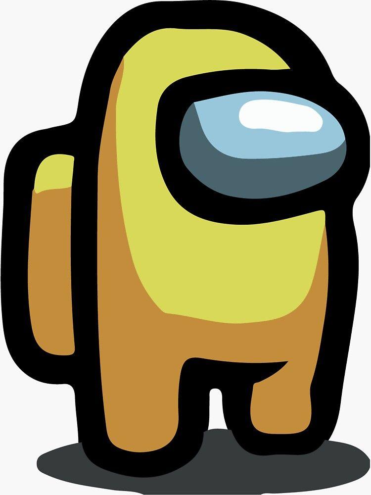 Among Us Crewmate Yellow Sticker By Nostylistxd Redbubble Cute Cartoon Wallpapers Wallpaper Iphone Cute Neon Wallpaper