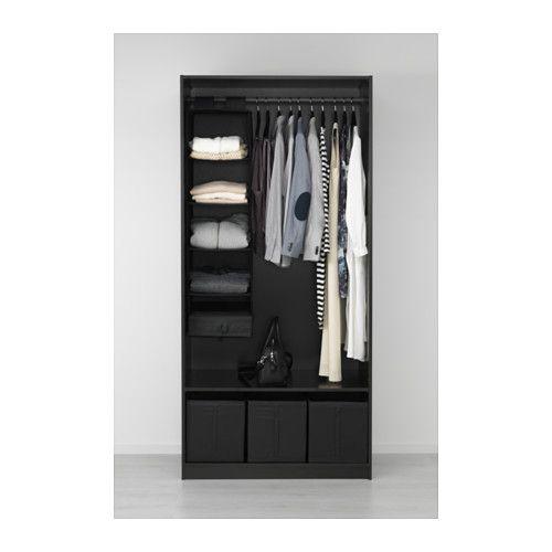 Wardrobe Black Brown Ballstad White 39 3 8x23 5 8x79 1