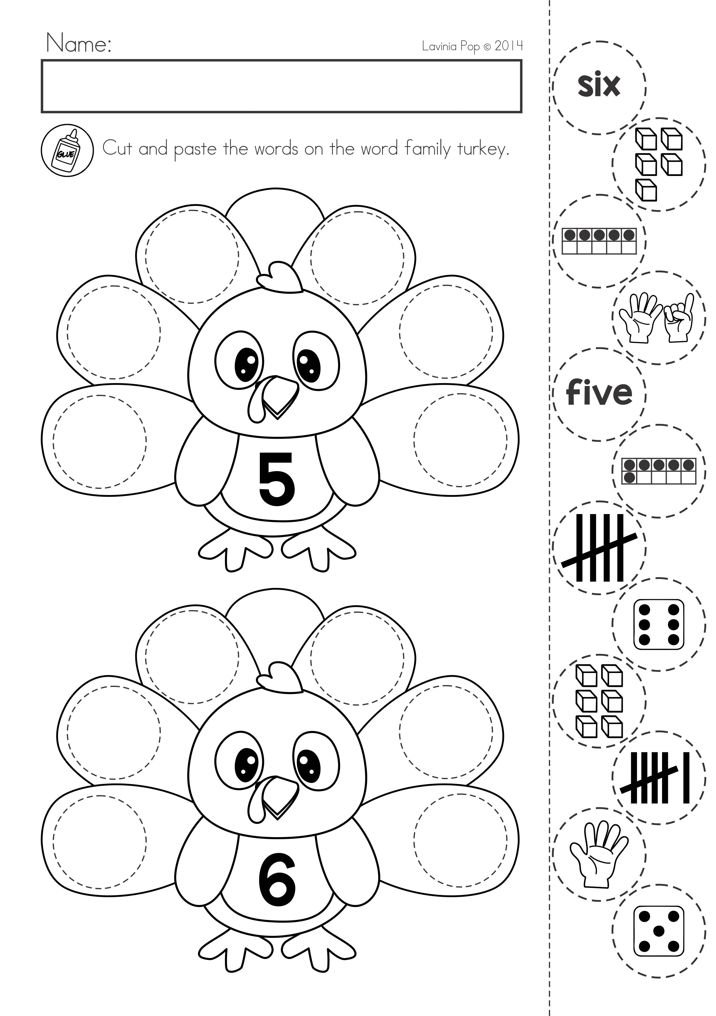 Thanksgiving Math Literacy Worksheets And Activities For Kindergarten Number Sense Act Math Worksheets Thanksgiving Math Worksheets Math Coloring Worksheets