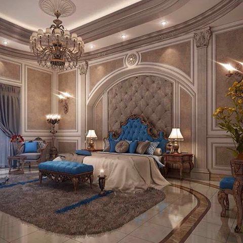 قطر الخير للمقاولات و ديكور تصميم غرف نوم مفروشات تنفيذ جبس أرضيات اصبغ ديكورات داخلية و Luxury Master Bedroom Design Luxurious Bedrooms Elegant Master Bedroom