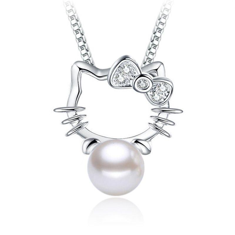 Silver plated shambhala super flash crystal imitation pearl silver plated shambhala super flash crystal imitation pearl jewelry agate stone pendant fashion hello kitty no mozeypictures Images