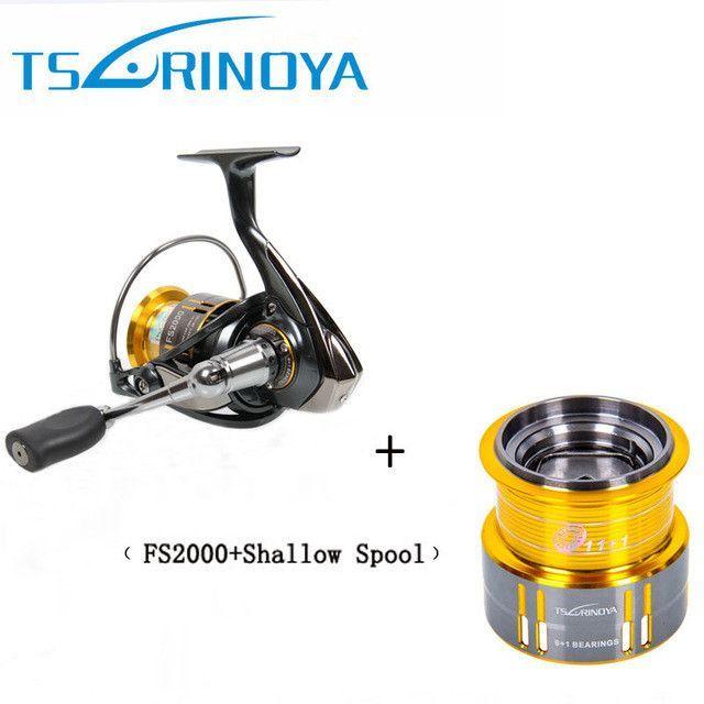 Tsurinoya FS2000 Spinning Fishing Reel 10BB 5.2:1 Metal Spool Carp Coil for Trolls Carretilhas De Pescaria Molinete Para Pesca