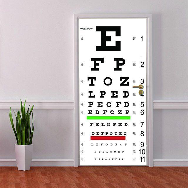 Captivating Eye Chart Door Mural