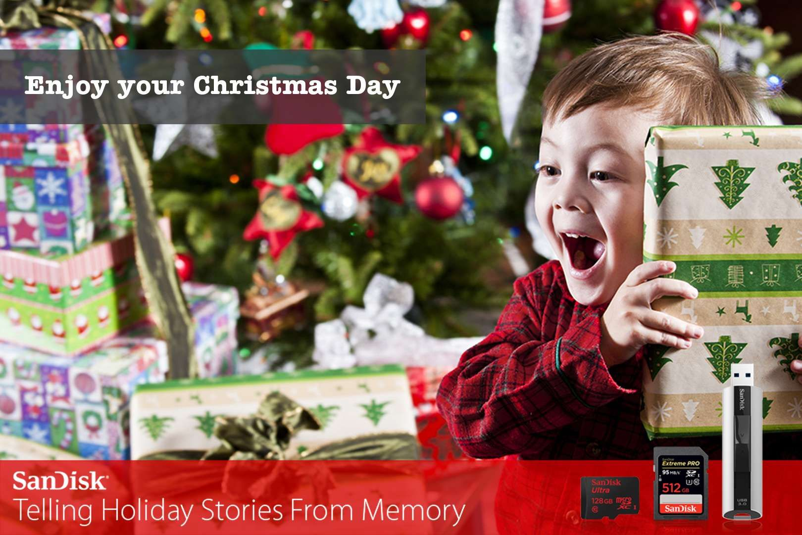 Check out my personal holiday card I just created! And, I'm entered into SanDisk's Holiday Stories Sweeps for a chance to win $1,000.