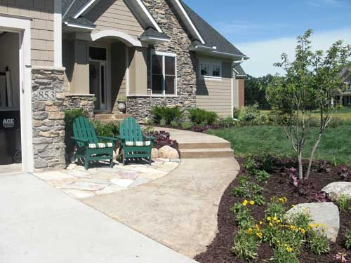 Griffin Design Build Entrance Sitting Area Front Yard Patio
