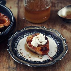 Baked Pears, ricotta and honey