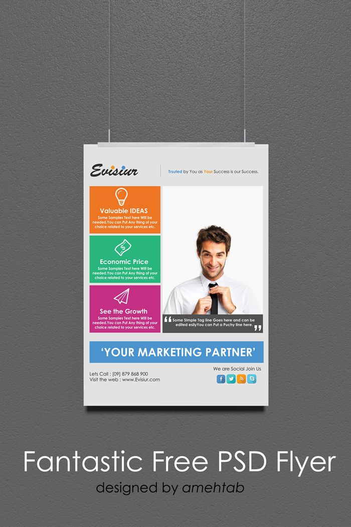 Download Multi Purpose Flyer Template Psd Free Amazing Brochure