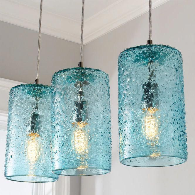Photo of Pebbled Glass Cylinder Pendant