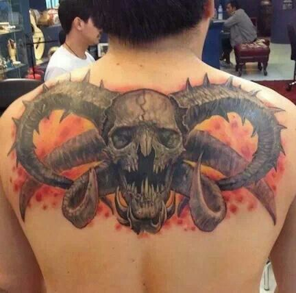 Cool ram horn skull tattoo. | skull | Pinterest | Tattoo ...