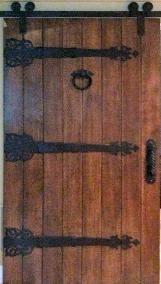 Diy Custom Sliding Barn Door Real Iron Hinge Straps Door