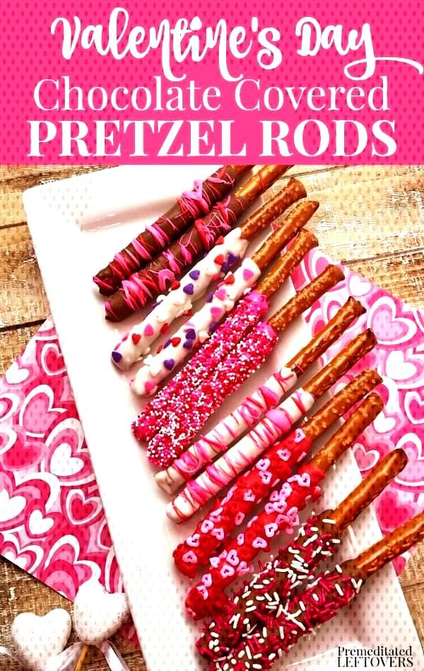Valentine's Day Chocolate Dipped Pretzels are a wonderfully sweet way to show someone that you care