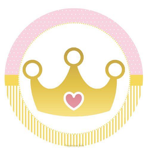 Corona Dorada Con Rosa Etiquetas Para Candy Bar Para Imprimir