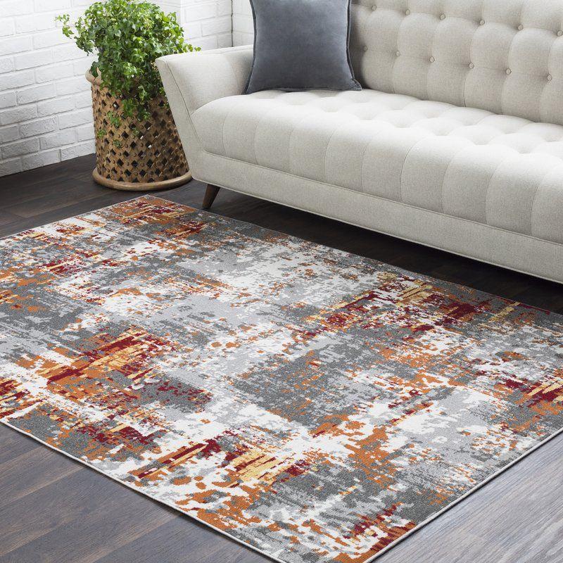 Azurine Burnt Orange Gray Area Rug Burnt Orange Living Room Grey And Orange Living Room Grey Area Rug