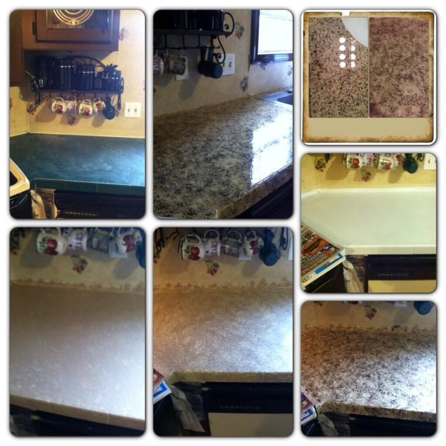 Before and after painted formica countertops Painting