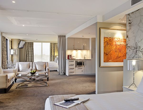 The Olsen Hotel Melbourne Two Bed Open Plan Suite Suite Room