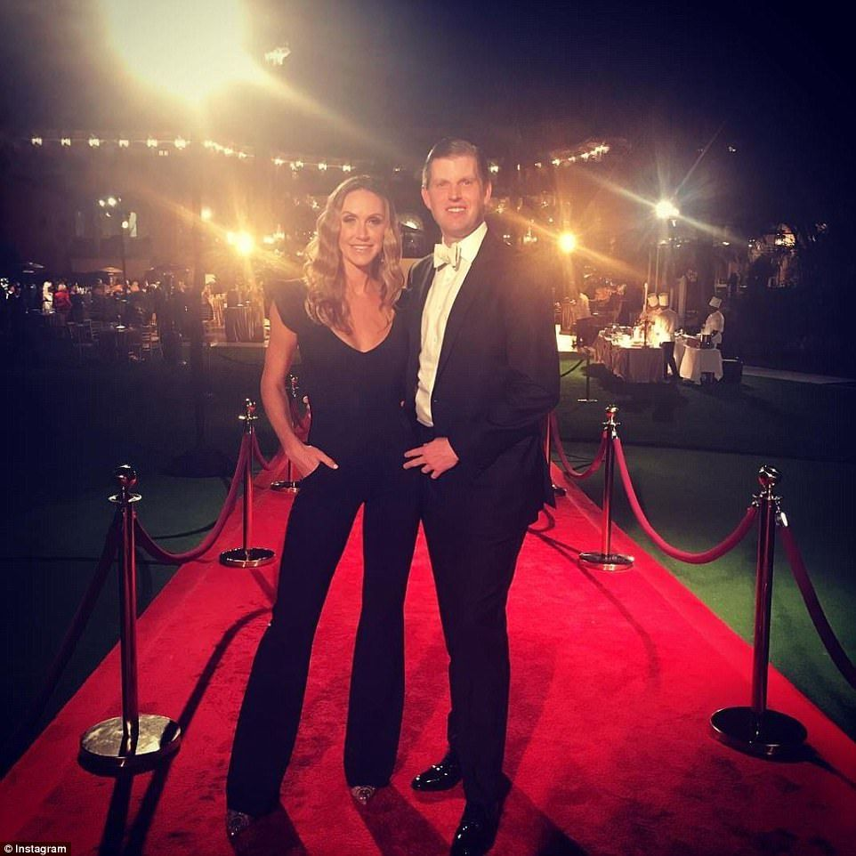 The Trumps arrive at swanky MaraLago New Year's Eve