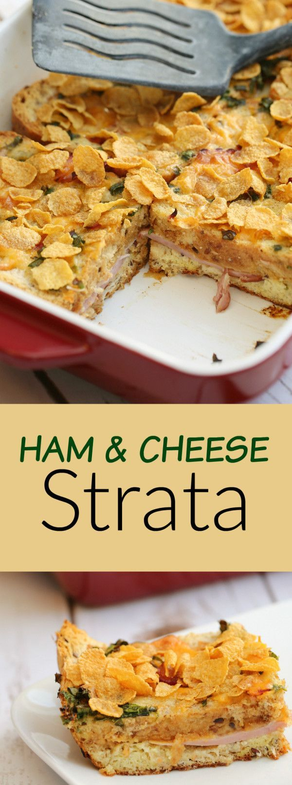 ham cheese brunch casserole a brunch recipe with whole grain bread eggs - Cheese Strata Recipes Brunch