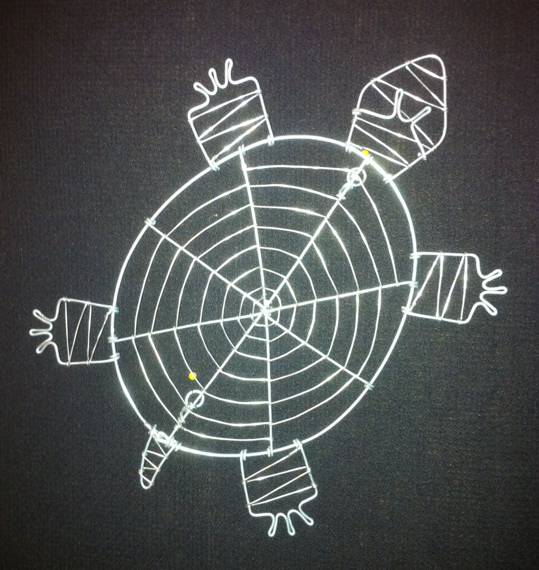 Simple Shell 2d Turtle Wall Hanger All American Wire Works Tortoise Wiring Diagram