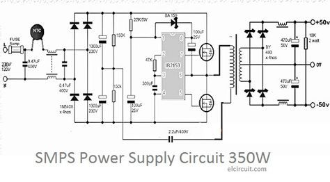 350W SMPS Power Supply Circuit | Pinterest | Power supply circuit ...