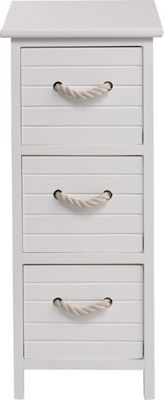 Nautical Bathroom 3 Drawer Unit White At Homebase Be Inspired And Make Your