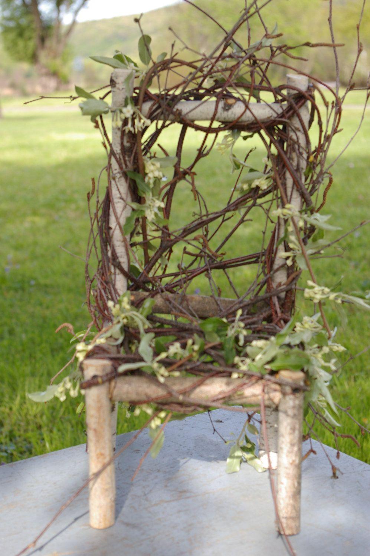 Pixie Faerie Fairie Fairy Chair For Magic Garden Or Table