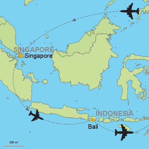 Singapore And Bali By Air Asia Travel Singapore Bali