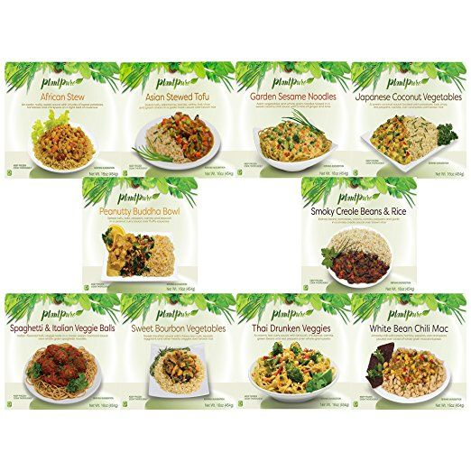 PlantPure Standard Pack of 20 Plant Based Frozen Entrees, 16 oz (Two of each entree)
