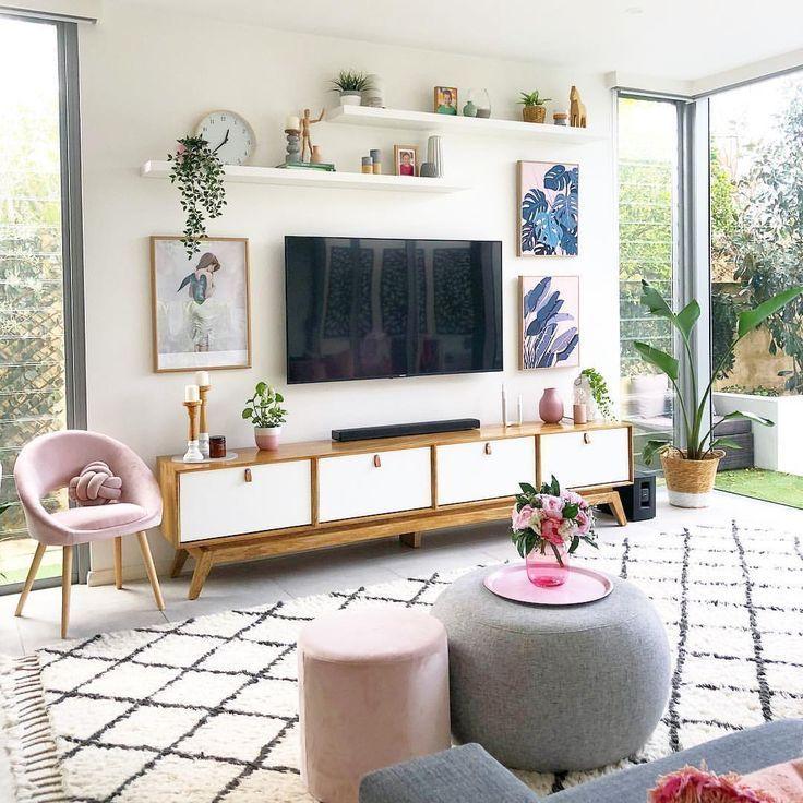 Ide Hiasan Dinding Ruang Tamu Minimalis Terbaru Ide Ruang Keluarga Desain Interior Ide Dekorasi Rumah