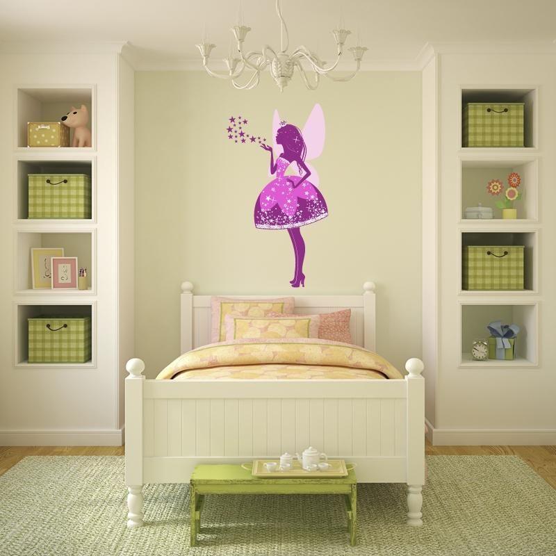 Adesivi da parete fata rosa adesivo da parete vinyl wall