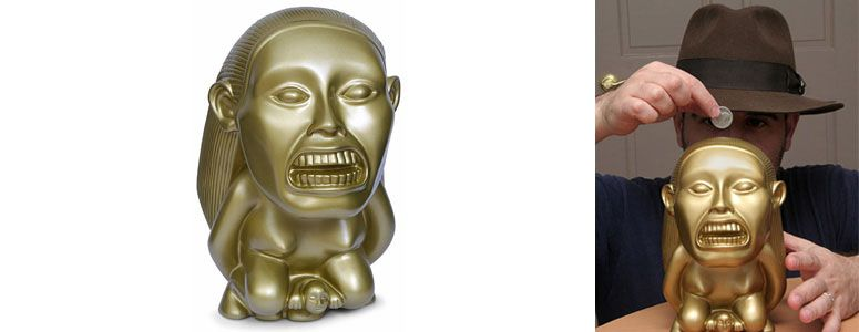 Indiana Jones - Golden Fertility Idol Bank | fun stuff