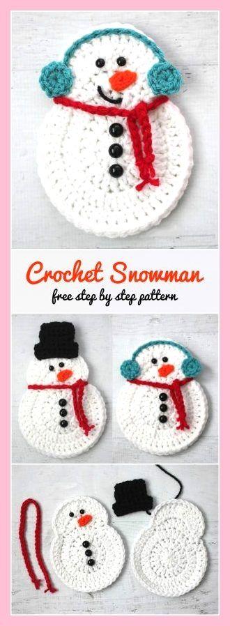 Neuen Haak Sneeuwpop Stap Voor Stap Sneeuwpop Haken Kerst Kerst Haak Patronen Kerst Cadeau Ideeen Diy