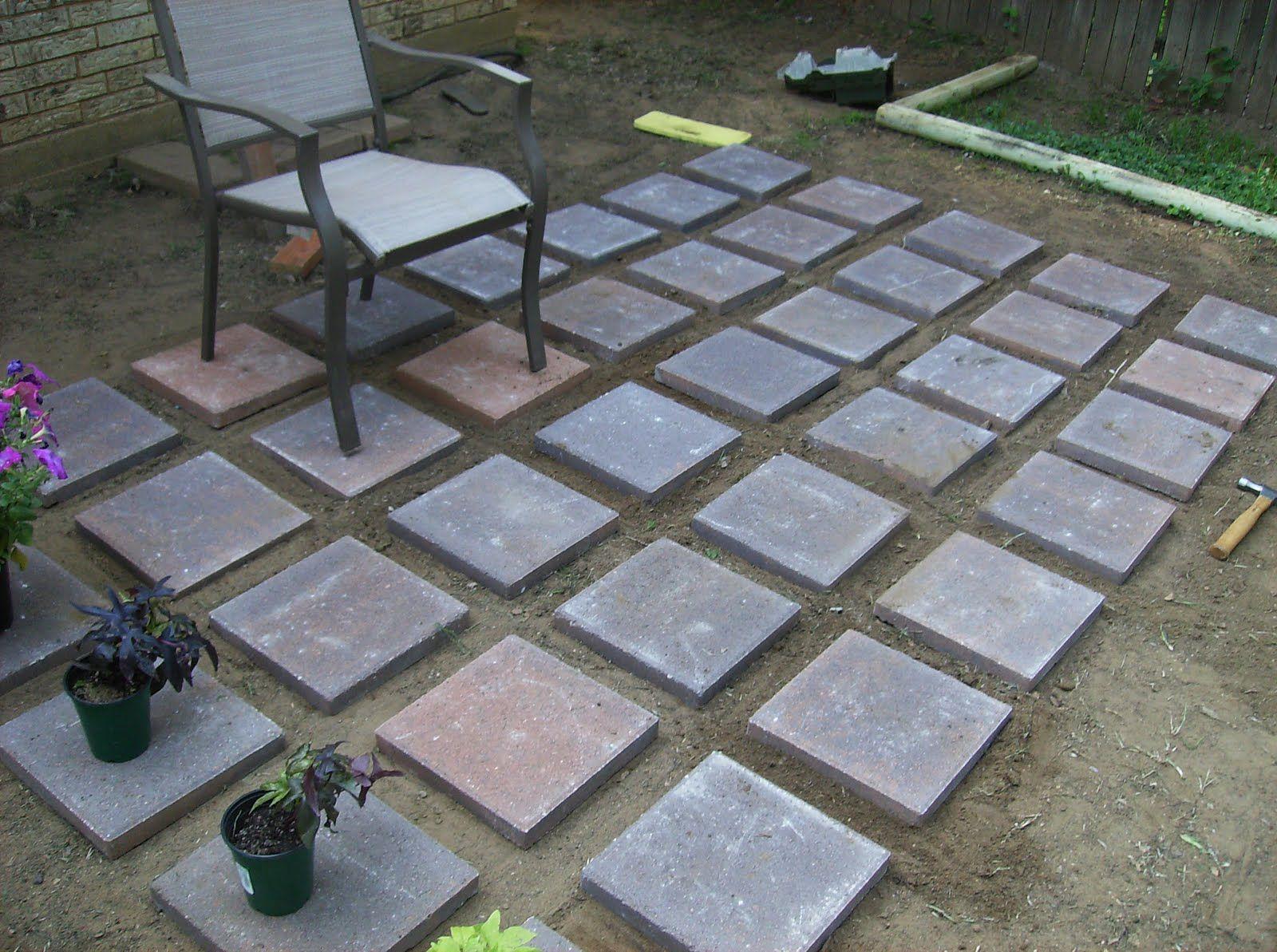 Cheap Paver Patio Ideas  calladocus  Casa  Concrete patio Patio Concrete pavers