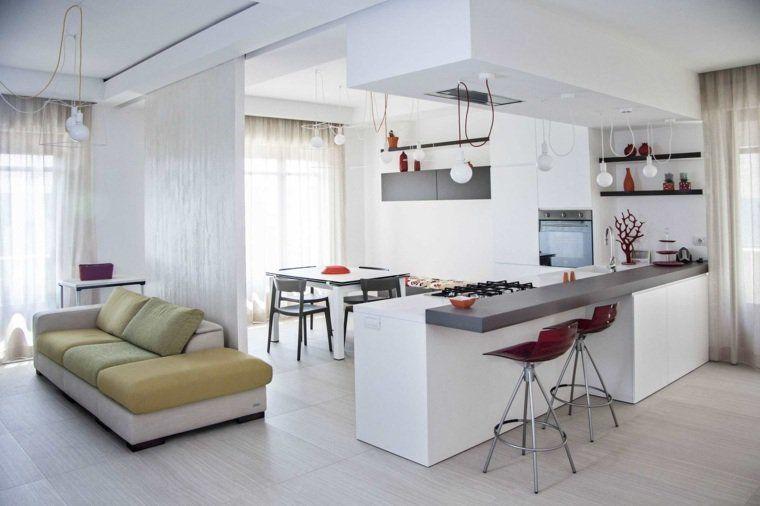 cuisine ouverte sur salon une solution pour tous les espaces - Couleur Pour Salon Salle A Manger