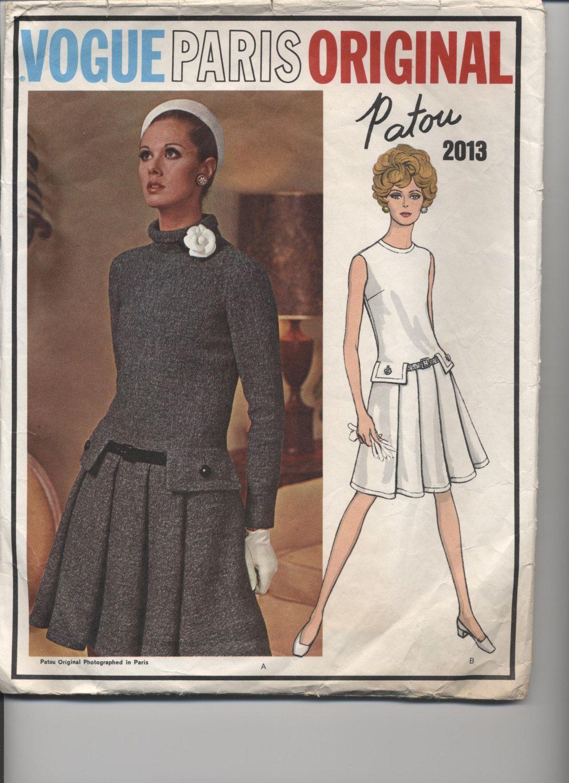 VOGUE 2013 PARIS ORIGINAL Jean Patou | 60s fashion | Pinterest | Nähen