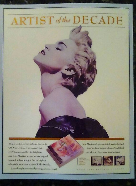Check out this item in my Etsy shop https://www.etsy.com/listing/276218270/rare-vintage-madonna-1989-artist-of-the