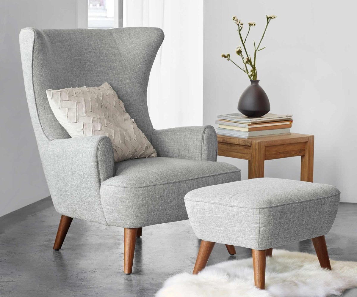 Katja High Back Chair Grey