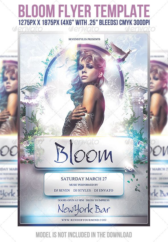 Bloom Flyer Template  Flyer Template Template And Psd Templates