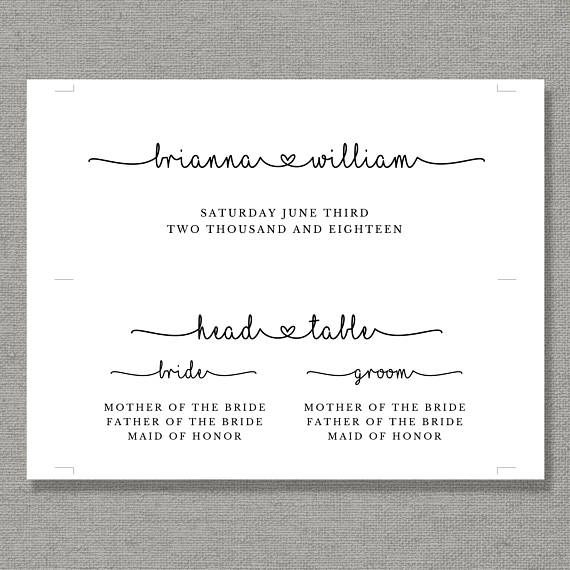 This wedding seating chart template is available for instant - color chart template